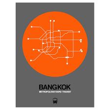 Bangkok Subway Map by Bangkok Subway Map Orange Subway City Maps Touch Of Modern