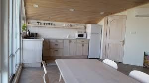 Kitchen With Dining Table Galilee Getaway Vacation Rental 1 Bedrooms In Poriya Tiberias