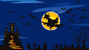halloween whitch broom theme castle wallpaperspics