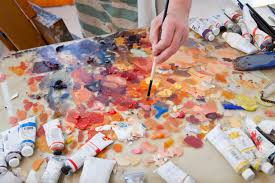 Paint by Painting On Paper With Oils