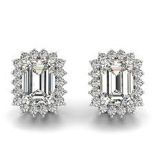 diamond stud earings cut diamond stud earrings