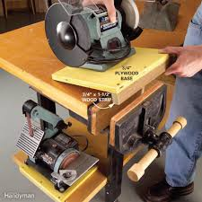 Woodworking Power Tools List by How To Build A Diy Workbench Super Simple 50 Bench Family Handyman