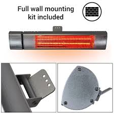 electric infrared patio heaters 2000w deluxe wall mounted electric infrared garden patio heater