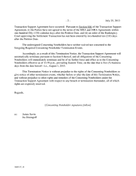 Termination Notice Example by Edison International Form 8 K Ex 2 1 Notice Of Termination