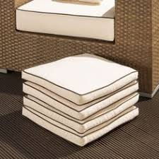 four large outdoor dining chair cushions fabric is 250g splash