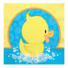 pato ducky baby shower servilletas de almuerzo 16 ct