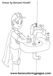 Hand Washing Coloring Sheets - personal hygiene promotion coloring page