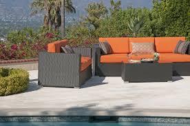 outdoor wicker deep seating outdoor furniture sunbrella