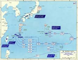 Map Of Pacific Map Of Wwii Invasion Of Iwo Jima And Okinawa 1945