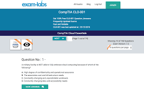 clo 001 comptia real exam questions 100 free exam labs