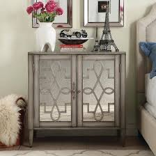 Chest End Table Stanwich Mirrored Storage Chest Silver Inspire Q Target