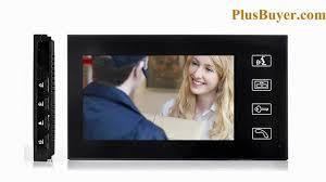 Front Door Video Monitor by 7 Inch Touchscreen Video Door Phone With Vandal Proof Outdoor
