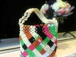 cara membuat tas rajut balon ims rumah sulam lestari di jember tempat kerajinan anyaman kain by