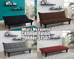 what u0027s my favorite college futon under 150