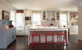 red bar stools kitchen traditional with accent color barstool dark