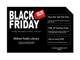 book black friday black friday event withee public library