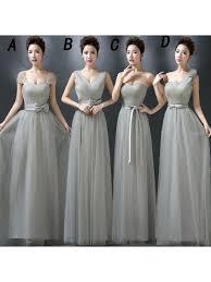 light gray bridesmaid dresses long bridesmaid dresses gray bridesmaid dresses tulle bridesmaid