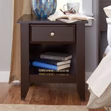 nightstand attractive lovely dark wood and mirrored nightstand
