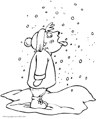 snowfall coloring pages