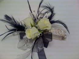 black and white corsage florist gift baskets charleston south charleston west