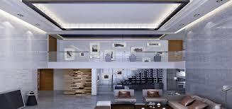 modern minimalist living room ceiling and walls in villa