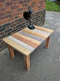 rustic solid wood coffee table handmade from reclaimed wood by