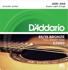 Medium Light Guitar Strings by D U0027addario Ez920 Great American Bronze Medium Light 012 054