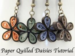 quilling earrings tutorial pdf free download free pdf tutorial for paper quilled daisy flower earrings meylah