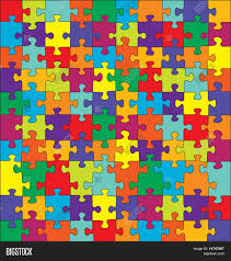 Complementary Colors by Puzzle With Split Complementary Colors Vector Stock Vector