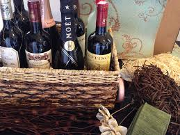 bridal shower wine basket for the newlyweds who wine bridal shower gift