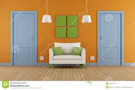 colorful interior colorful interior doors and armchair stock photography image