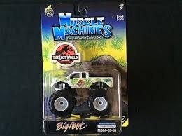 bigfoot monster truck game muscle machines 1 64 bigfoot die cast jurassic park ford monster truck