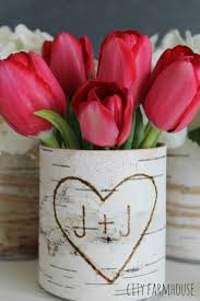 Birch Bark Vases Tin Can Crafts Arts And Crafts Ideas