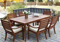 round table patio furniture sets new teak outdoor round dining