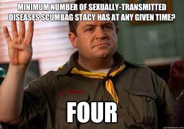 Scumbag Stacy Meme - minimum number of sexually transmitted diseases scumbag stacy has