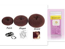 donut hair bun brown 3pcs set donut three hair bun ring shaper hair