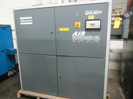 atlas copco ga30ff rotary 40hp air compressor with built in