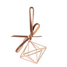 3d geometric ornaments copper wire 2 4375 x 2 75 inches
