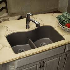 brushed nickel faucet with stainless steel sink kitchen modern double stainless steel elkay sinks with dark wood