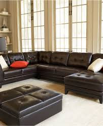 furniture awesome glossy leather sectional couch design with