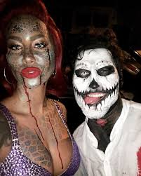 amber rose and val chmerkovskiy reunite for halloween reality tv