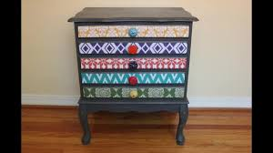 White Desk With Drawers On Both Sides How To Mod Podge Fabric To Wood Furniture Mod Podge Rocks