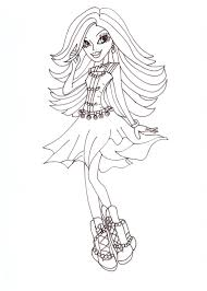 free printable monster high coloring pages spectra coloring sheet