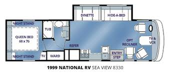 used 1999 national rv seaview 8330 33 u2032 class a motorhome for sale