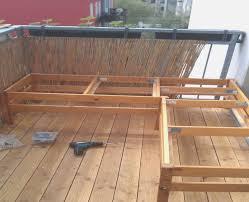 boden fã r balkon holzeckbank selber bauen treefunder co