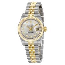 golden jubilee diamond size comparison rolex lady datejust 26 mother of pearl with 10 dial stainless