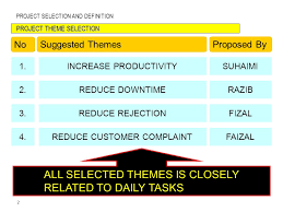 2 project selection and definition project theme selection suggested
