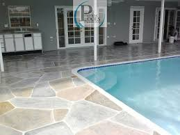 decorative concrete ideas for the driveway patio or pool deck
