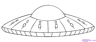 alien flying saucer coloring page with craft coloring page