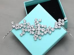 rhinestone hair bridal crystals hair silver bobby clip wedding bridal